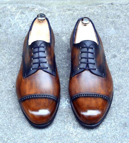 Derby patiné couleur pain brûlé - Caulaincourt chaussures hommes haut de gamme