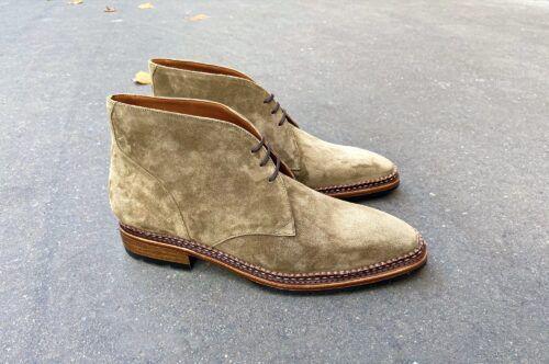 Les desert boots Solognac sont parfaites pour une tenue chic et décontractée